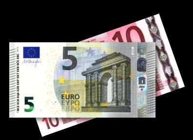 5 und 10 Euro